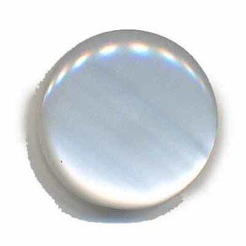 Knoop glans wit 25 mm