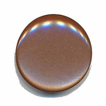 Knoop glans bruin 25 mm
