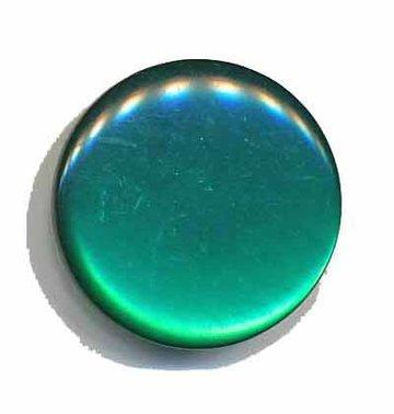 Knoop glans donker groen 25 mm