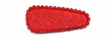 Haarkniphoesje fluweel rood 3 cm (ca. 20 stuks)