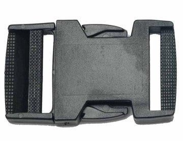Klikgesp zwart kunststof 38 mm (10 stuks)