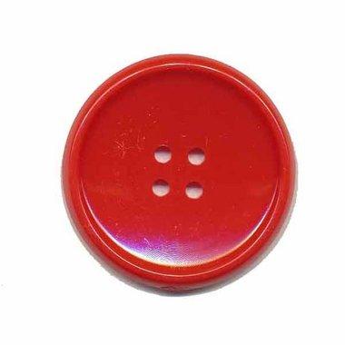 Knoop schotel rood 35 mm (2 stuks)