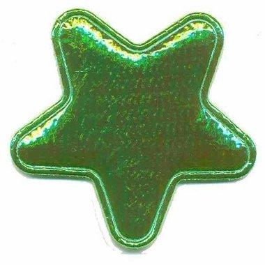 Applicatie glim ster groen groot 45 mm (ca. 25 stuks)