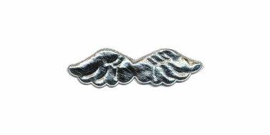 Applicatie glim vleugel zilver klein 80 x 20 mm (10 stuks)