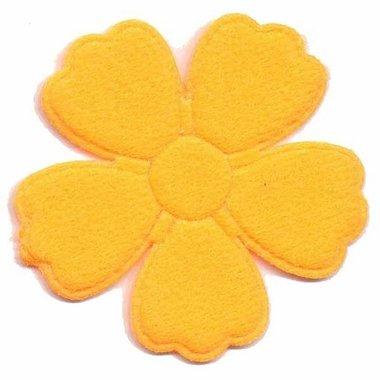 Applicatie bloem oranje groot (ca. 25 stuks)