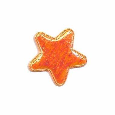 Applicatie glim ster oranje klein 25 mm (ca. 25 stuks)