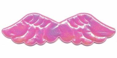 Applicatie glim vleugel roze groot 150 x 45 mm (10 stuks)