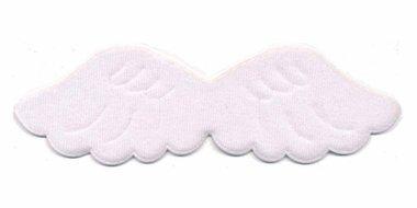 Applicatie vleugel wit groot 140 x 45 mm (10 stuks)