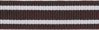 Bruin-wit streepband 19 mm (ca. 45 m)