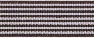 Bruin-wit streepband 27 mm (ca. 45 m)