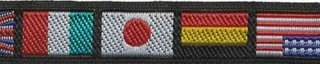Zwart-vlaggen sierband 12 mm (ca. 22 m)