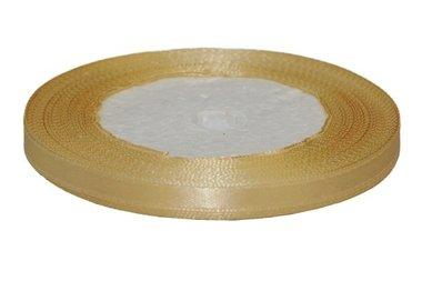Goudkleurig enkelzijdig satijnband 7 mm (ca. 22 m)