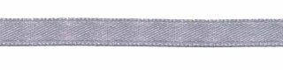 Zilverkleurig enkelzijdig satijnband 7 mm (ca. 22 m)