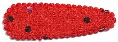 Haarkniphoesje fluweel rood met stip 5 cm