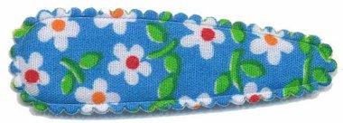 Haarkniphoesje licht blauw met bloem 5 cm