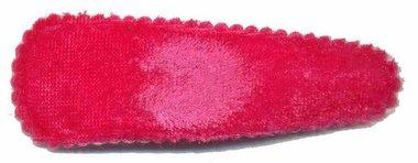 Haarknip met haarkniphoesje fluweel fuchsia 7 cm