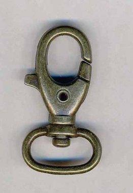 Musketonhaak / sleutelhanger bronskleurig ovaal 20 mm