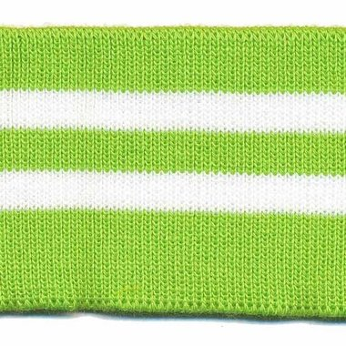 Boord groen-wit gestreept