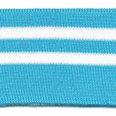 Boord blauw-wit gestreept