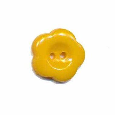 Bloemknoop donker geel 15 mm