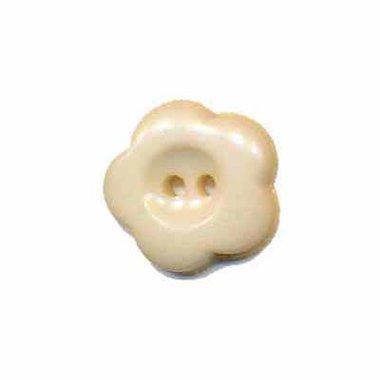 Bloemknoop crème 15 mm