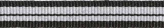 Zwart-wit-zwart streep grosgrain/ribsband 10 mm (ca. 25 m)