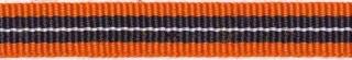 Oranje-donker blauw-wit streep grosgrain/ribsband 10 mm (ca. 25 m)