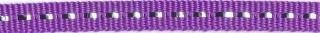 Paars band met zilverdraad 7 mm (ca. 25 m)