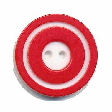 Knoop 'donut' groot rood 25 mm (ca. 25 stuks)