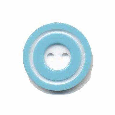 Knoop 'donut' middel licht blauw 20 mm (ca. 25 stuks)