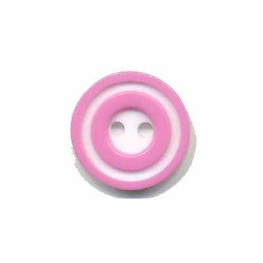 Knoop 'donut' klein roze 15 mm (ca. 50 stuks)