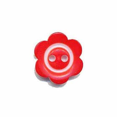 Bloemknoop met rand rood 15 mm (ca. 50 stuks)