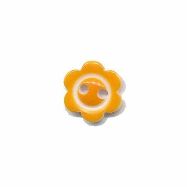 Bloemknoop met rand oranje 10 mm (ca. 100 stuks)