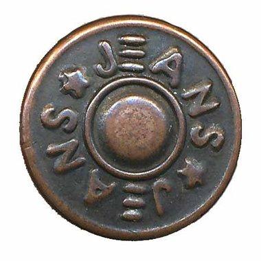 Jeans knoop brons 16 mm (ca. 25 stuks)