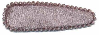 Haarkniphoesje fluweel zilvergrijs 5 cm (ca. 20 stuks)