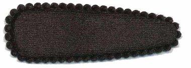 Haarkniphoesje fluweel zwart 5 cm (ca. 20 stuks)