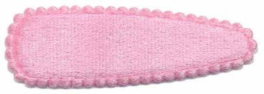 Haarkniphoesje fluweel licht roze 5 cm (ca. 20 stuks)