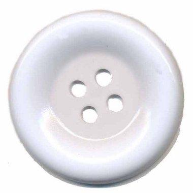 Grote knoop wit 50 mm (10 stuks)