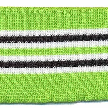 Boord groen-zwart-wit gestreept ca. 62 cm (6 stuks)