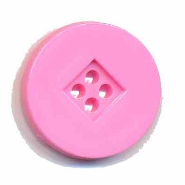 Knoop retro roze 25 mm (ca. 25 stuks)