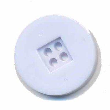 Knoop retro wit 25 mm (ca. 25 stuks)