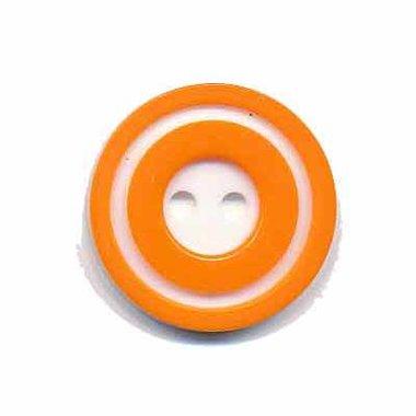 Knoop 'donut' middel oranje 20 mm (ca. 25 stuks)