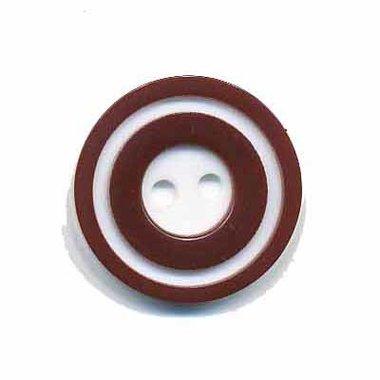 Knoop 'donut' middel bruin 20 mm (ca. 25 stuks)