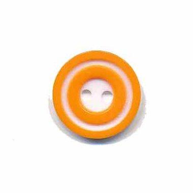 Knoop 'donut' klein oranje 15 mm (ca. 50 stuks)