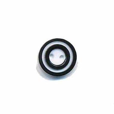 Knoop 'donut' mini zwart 10 mm (ca. 100 stuks)