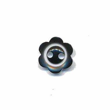 Bloemknoop met rand zwart 10 mm (ca. 100 stuks)