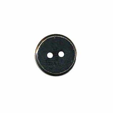 Knoop met metalen rand zwart 13 mm (ca. 100 stuks)
