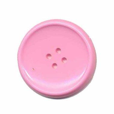 Knoop schotel roze 35 mm (ca. 25 stuks)