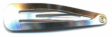 Klik-klak haarknipje zilver 4,5 cm