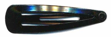 Klik-klak haarknipje zwart 4,5 cm